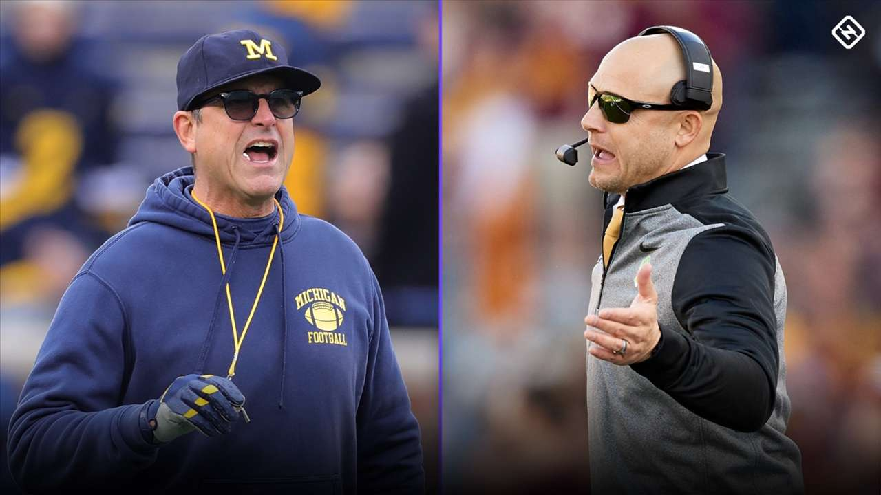 Jim Harbaugh-P.J. Fleck-102020-GETTY-FTR