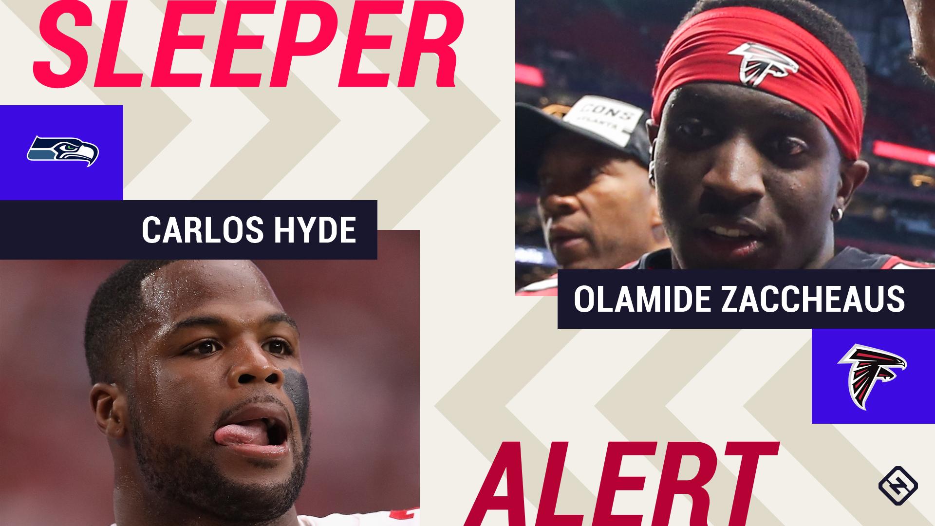 Week 4 Fantasy Sleepers: Injuries to Chris Carson, Julio Jones make Carlos Hyde, Olamide Zaccheaus potential starters