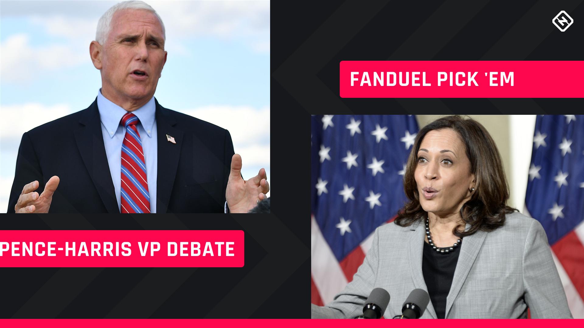 FanDuel Presidential Pick 'em: Prop bet-style picks for Pence-Harris vice presidential debate 1
