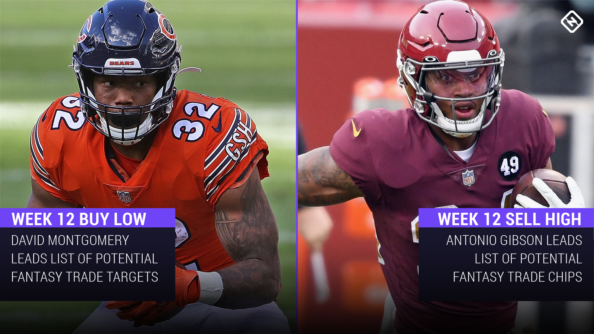 Fantasy Football Buy-Low, Sell-High Stock Watch: David Montgomery, Antonio Gibson among trade candidates heading into Week 12
