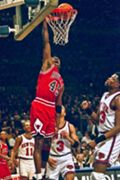 Michael Jordan scores 55 points