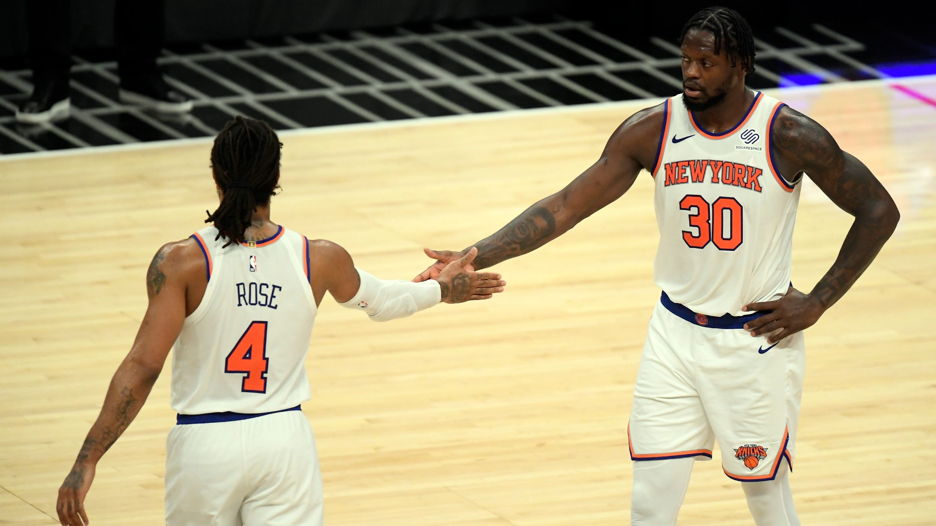 Knicks and Julius Randle celebrate franchise's first playoff trip since 2013