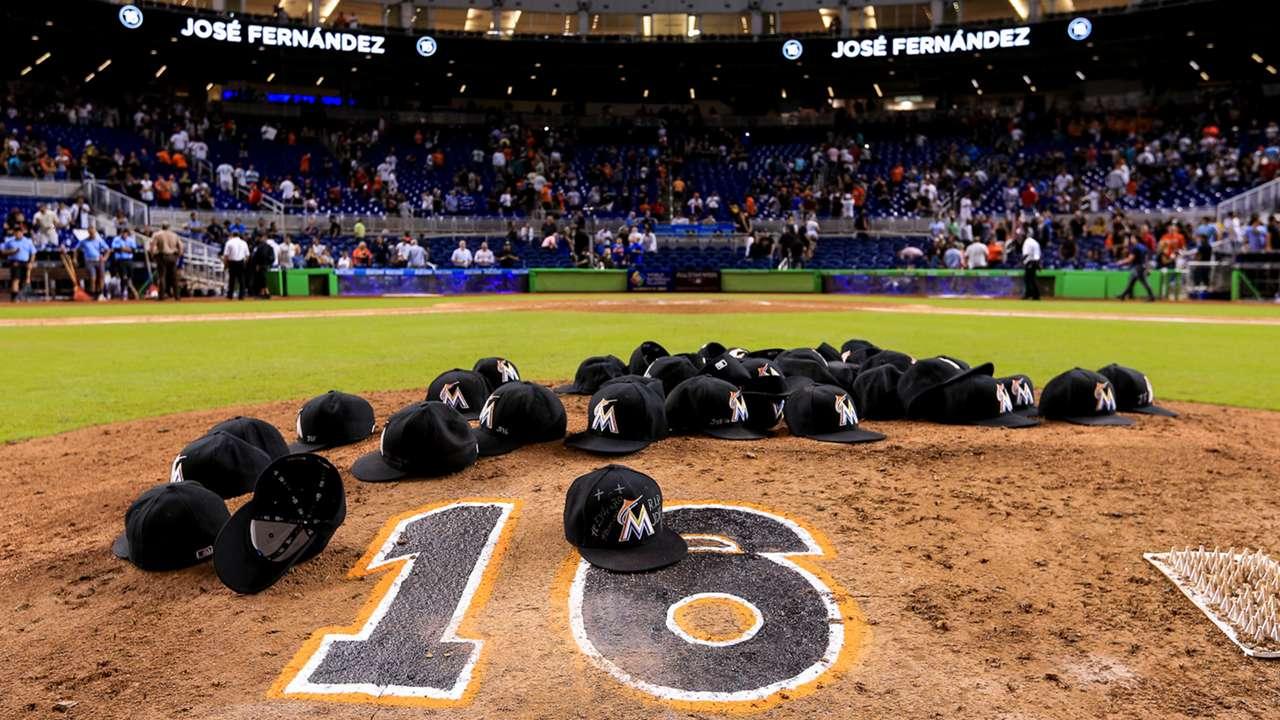 Marlins honor Jose Fernandez photos