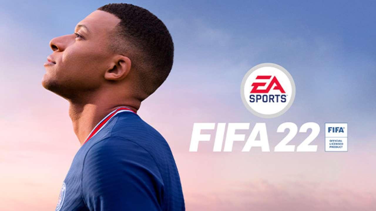 EA FIFA 22 cover - Kylian Mbappe