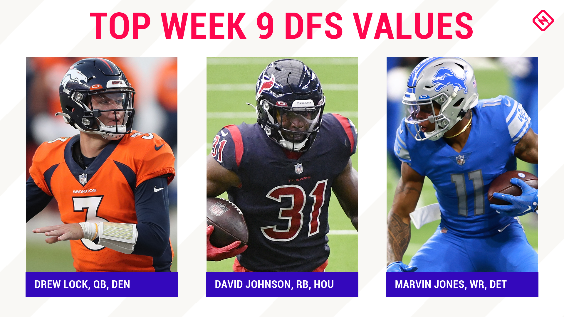 Week 9 NFL DFS Picks: Best value players, sleepers for DraftKings, FanDuel daily fantasy football lineups