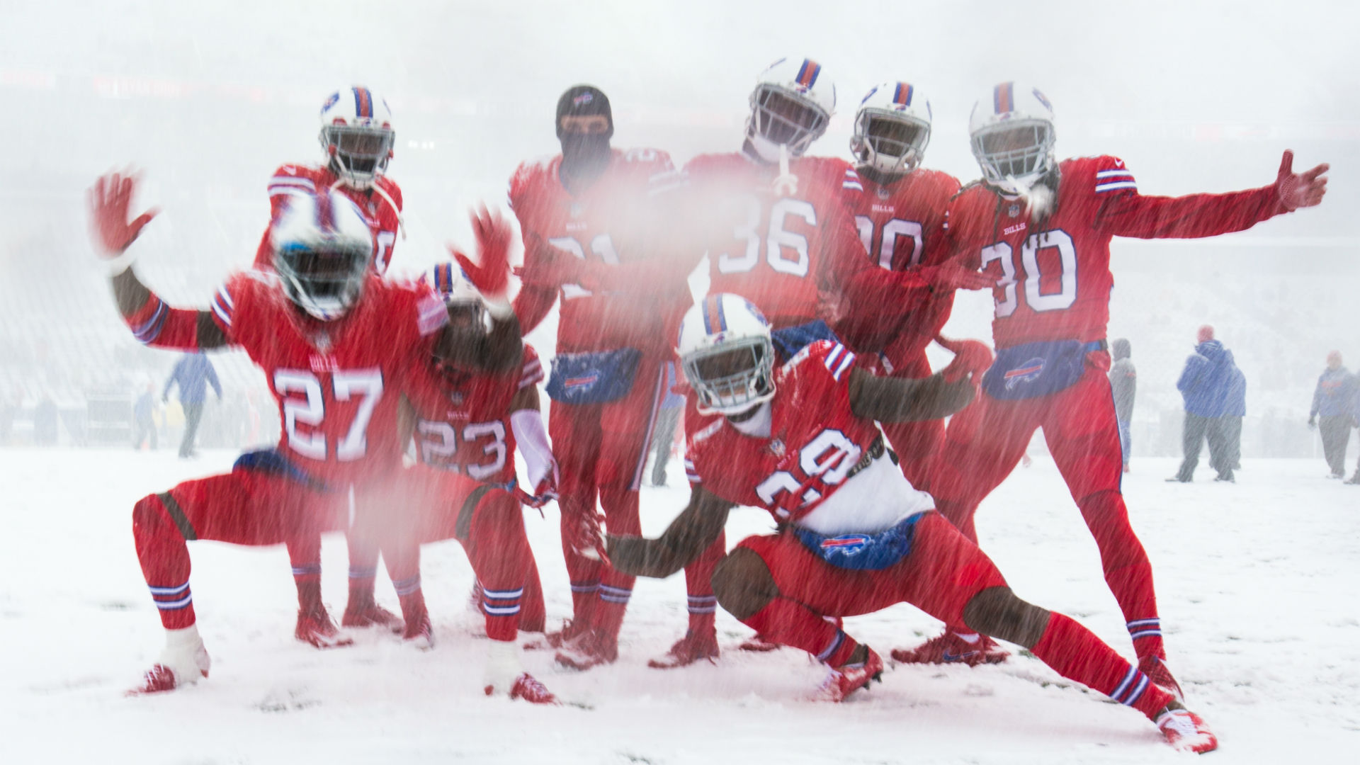 Snow Way Bills Play Colts In Blizzard Like Conditions At New Era Field Sporting News