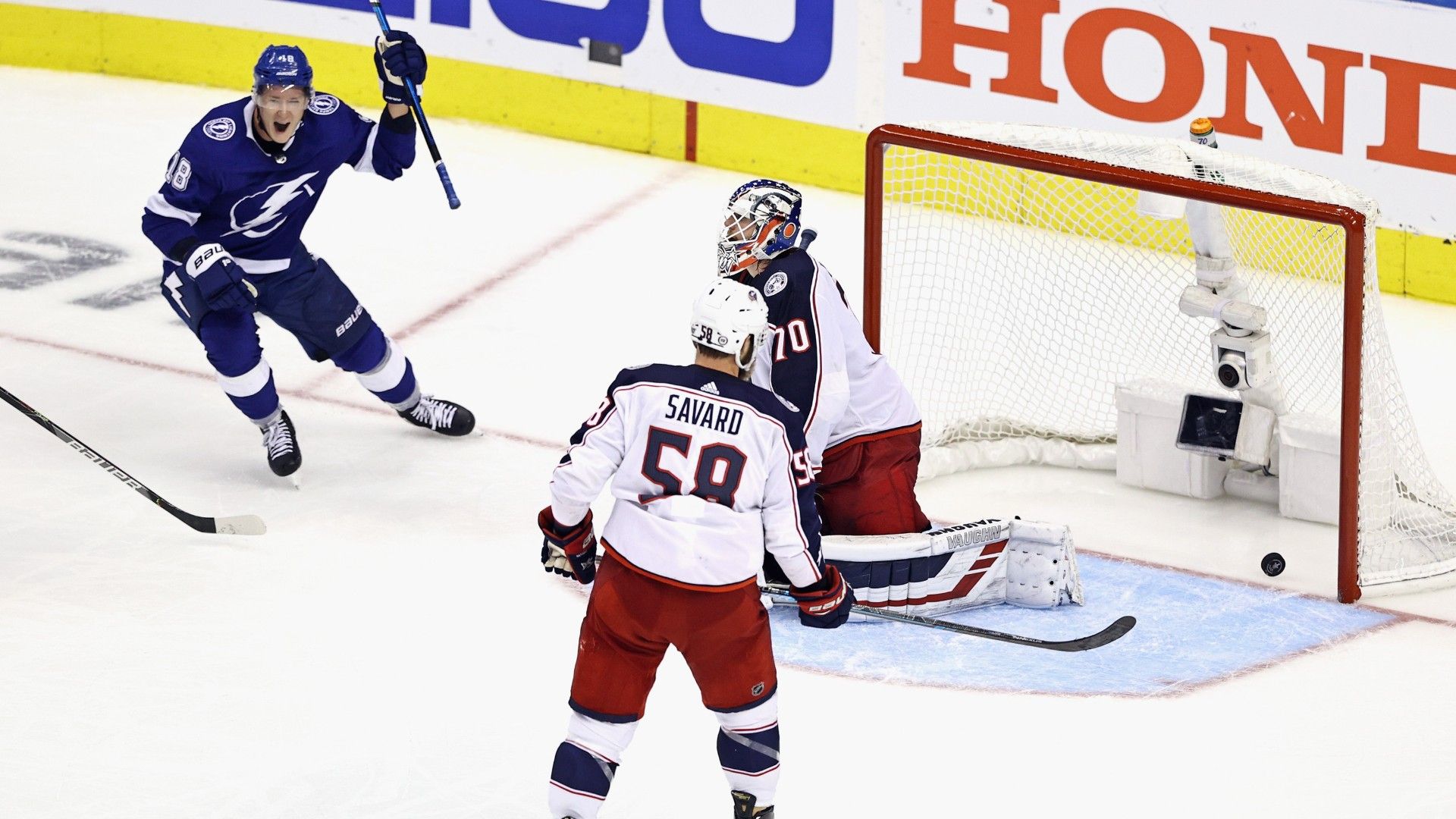 Seth Jones' minutes, Joonas Korpisalo's saves & more crazy numbers from the Lightning-Blue Jackets 5-OT thriller 1