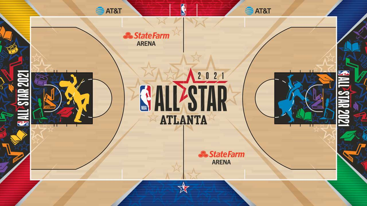 NBAオールスター2021 コートデザイン発表