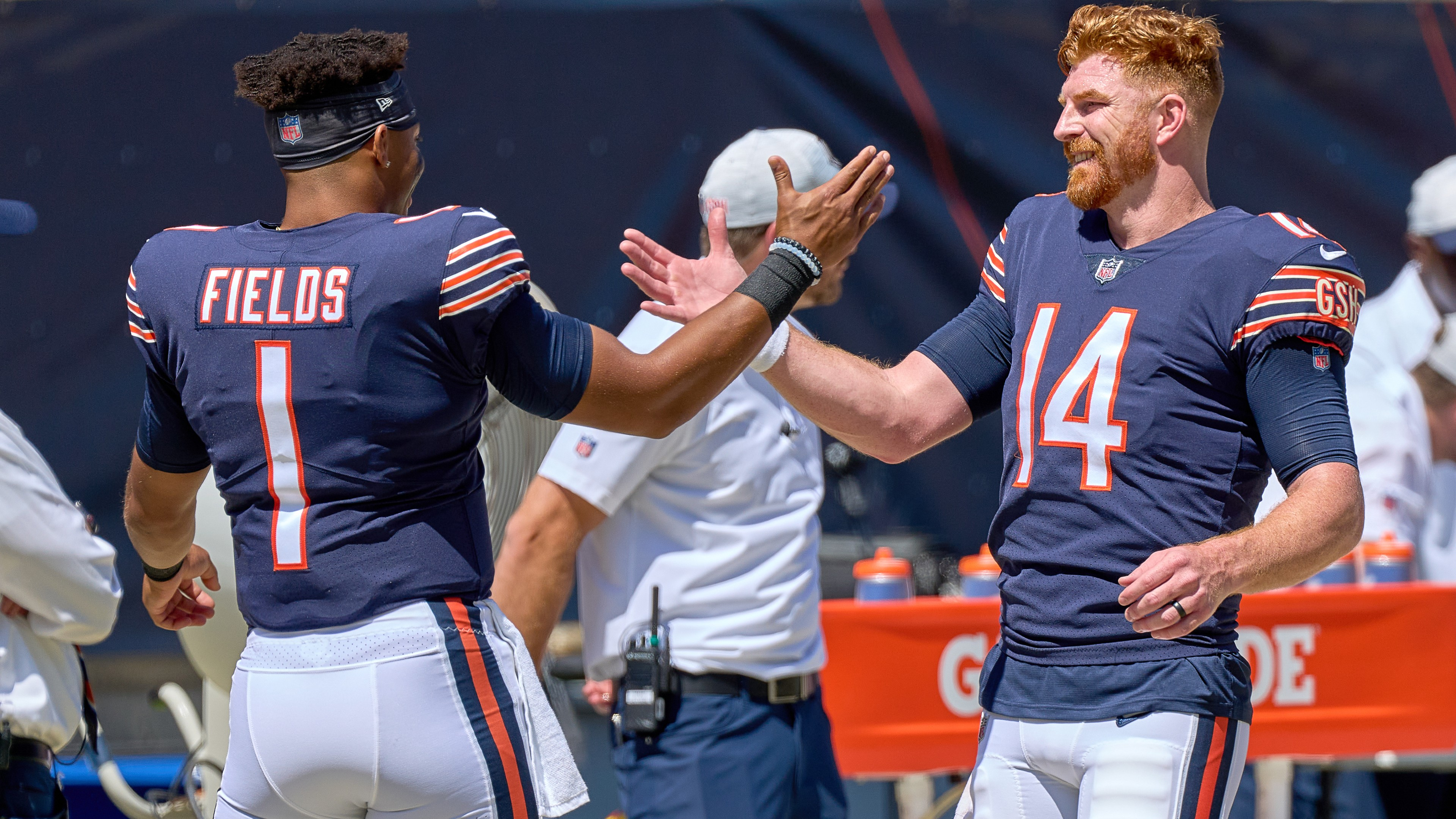 Bears' Justin Fields defends Andy Dalton after fans boo him: 'Andy is a  human being too' | Sporting News