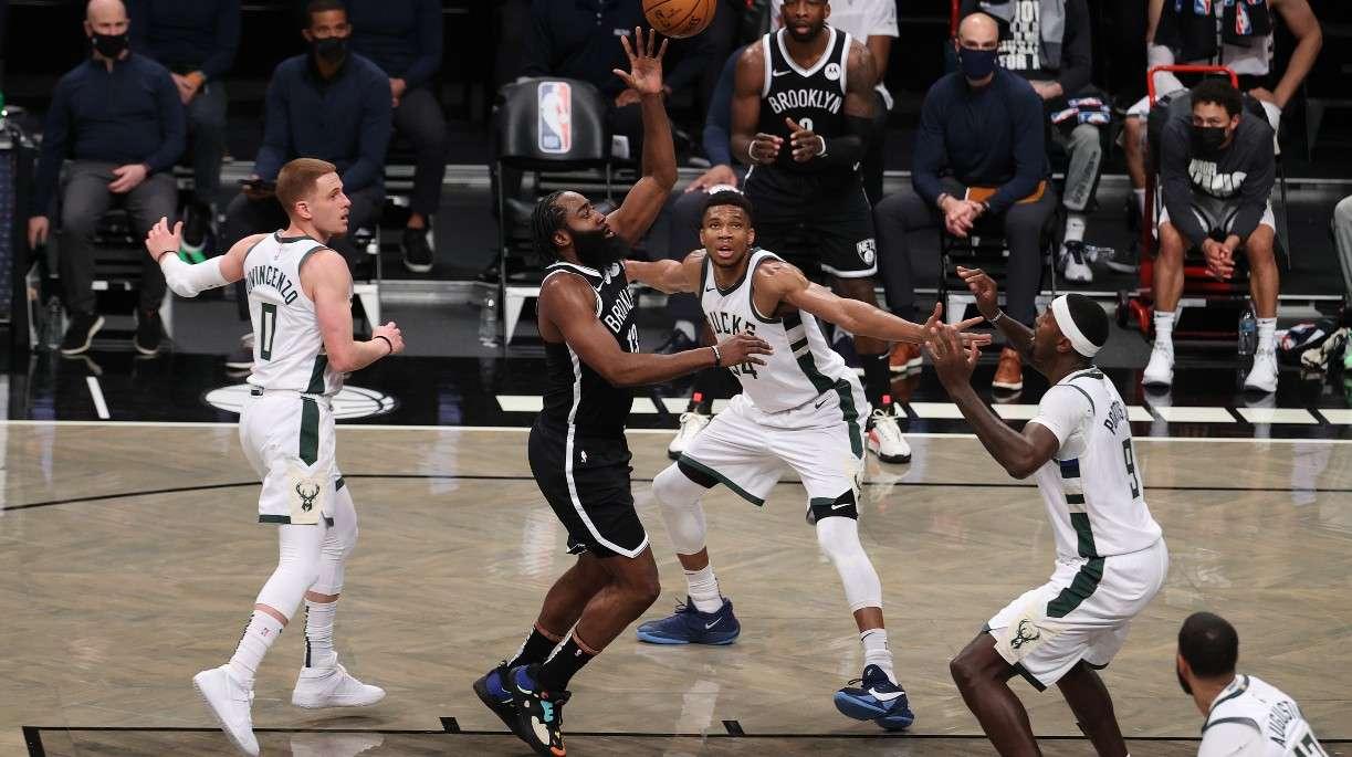 James Harden Brooklyn Nets Giannis Antetokounmpo Milwaukee Bucks