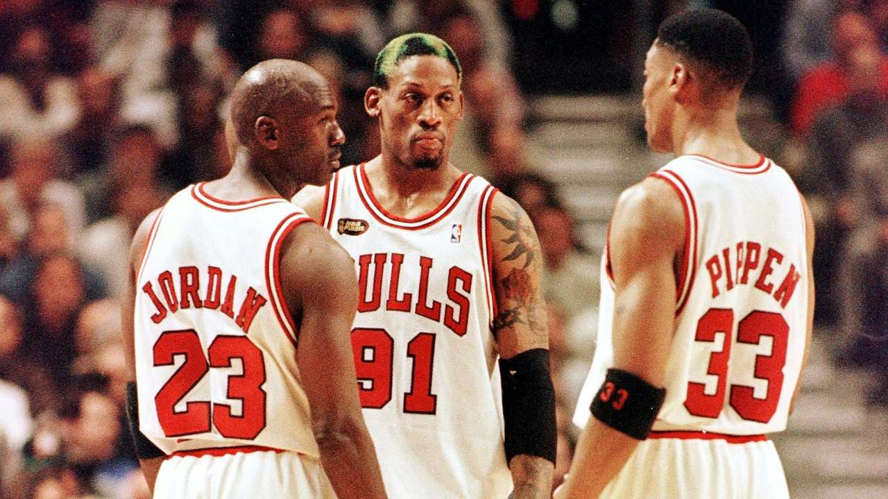 Jordan, Pippen and Rodman have made the NBA 75 team.