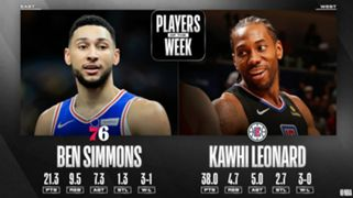 Philadelphia 76ers Ben Simmons LA Clippers Kawhi Leonard