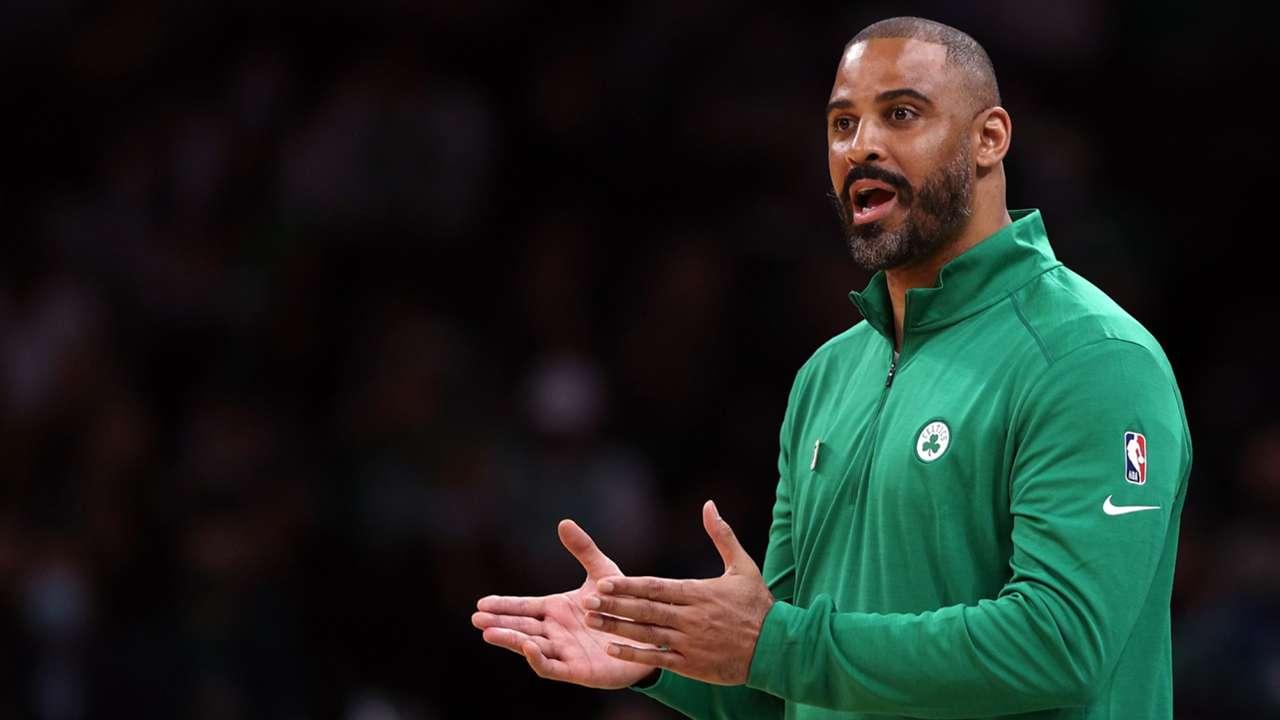 Ime Udoka during the Celtics loss to Toronto