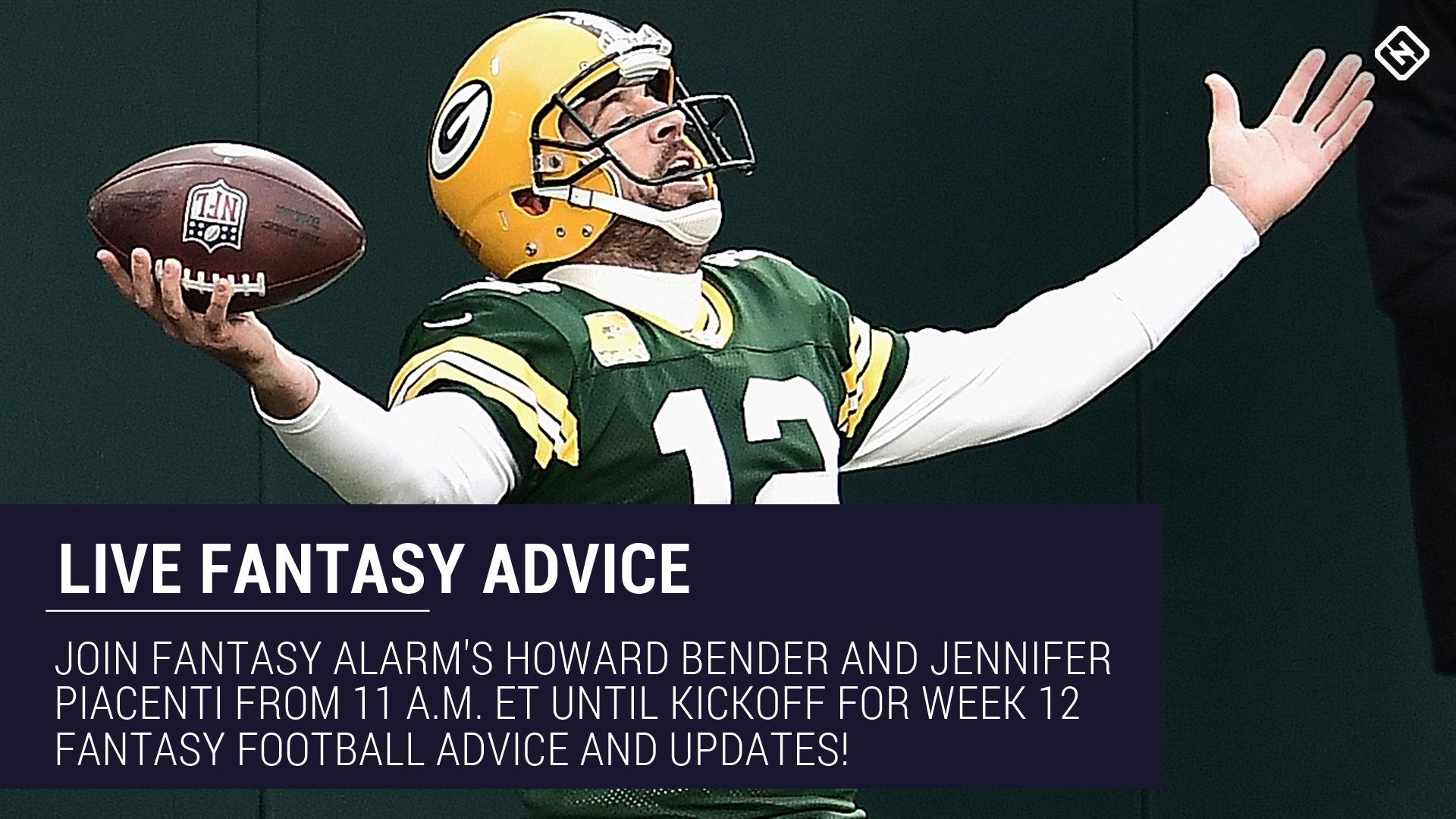 Live Week 12 Fantasy Football Advice: Injury updates, start 'em sit 'em, NFL DFS tips, more