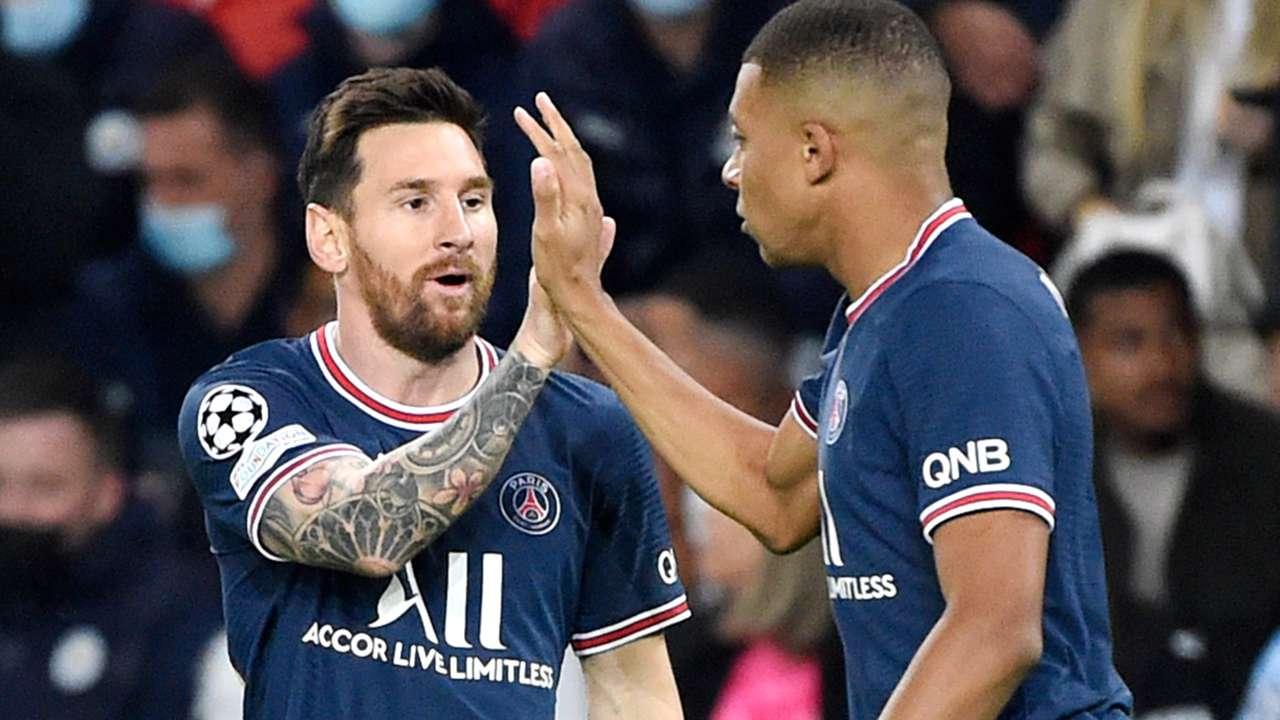Kylian Mbappe - Lionel Messi - PSG - Champions League