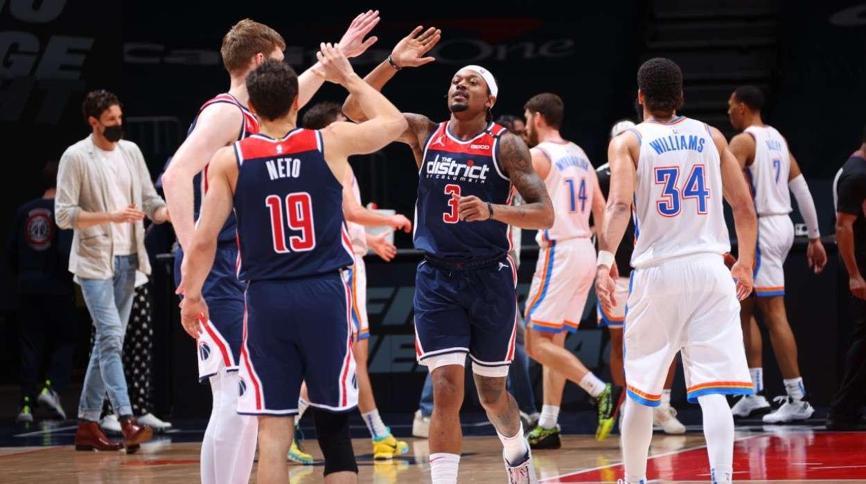 Bradley Beal Raul Neto Davis Bertans Washington Wizards