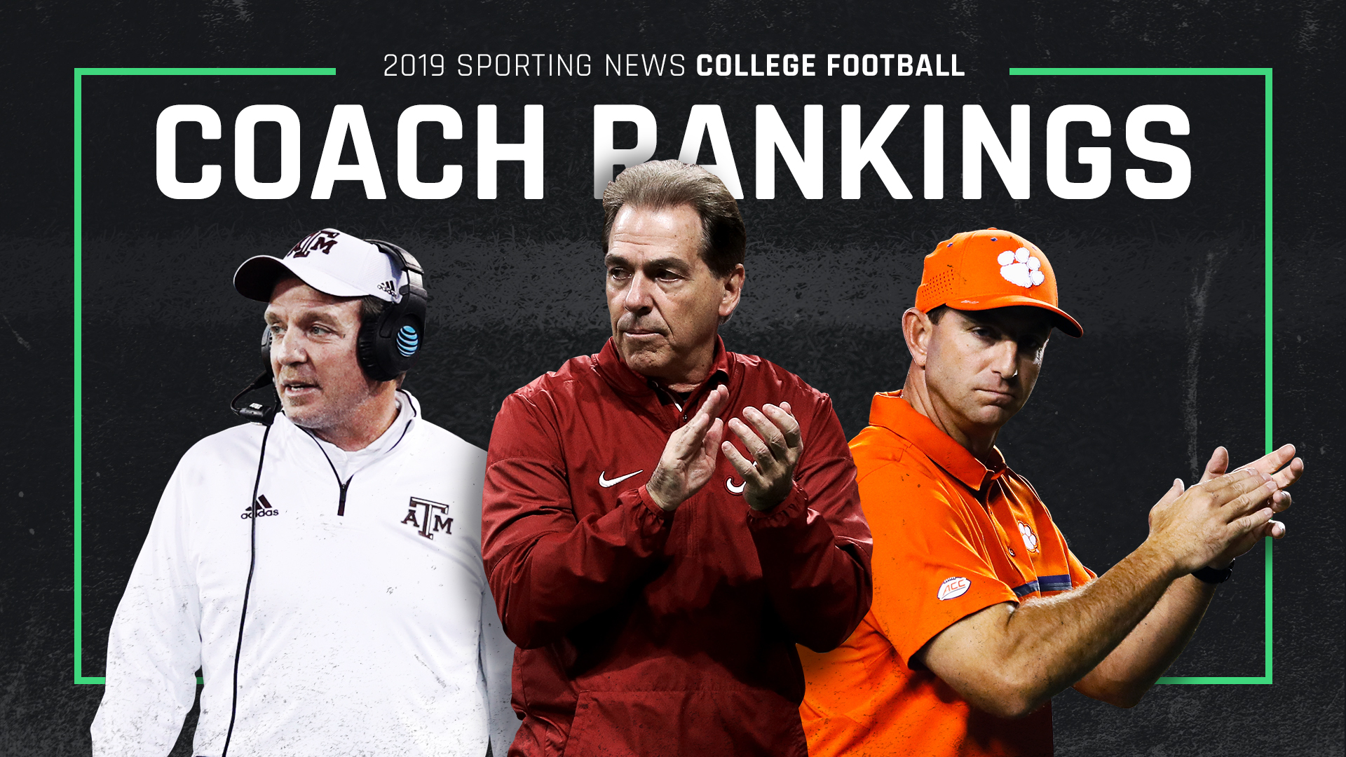 Ranking College Football Coaches 1 130 For 2019 Season Sporting News