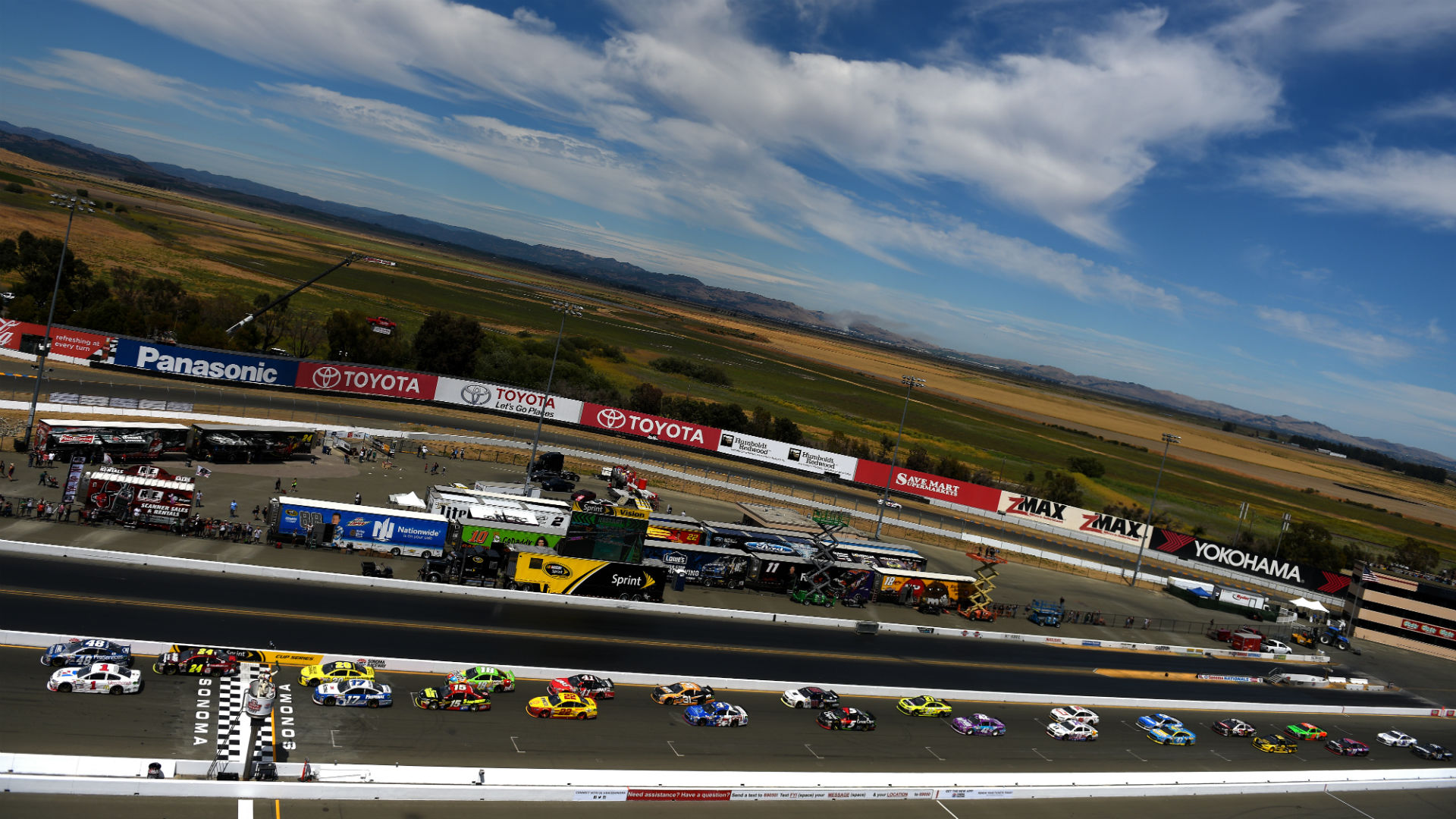 What time does the NASCAR race start today?  Television schedule, Sonoma Race Channel