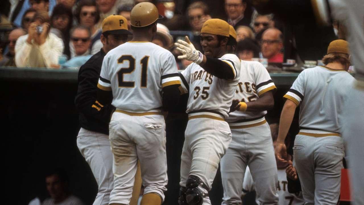 The '71 Pirates celebrate.
