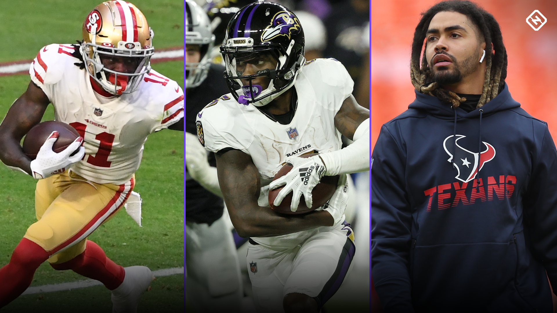 Fantasy Damage Updates: Latest News on WRs Brandon Aiyuk, Marquise Brown, Will Fuller prior to Week 2 Launch Them, Initiate Calls