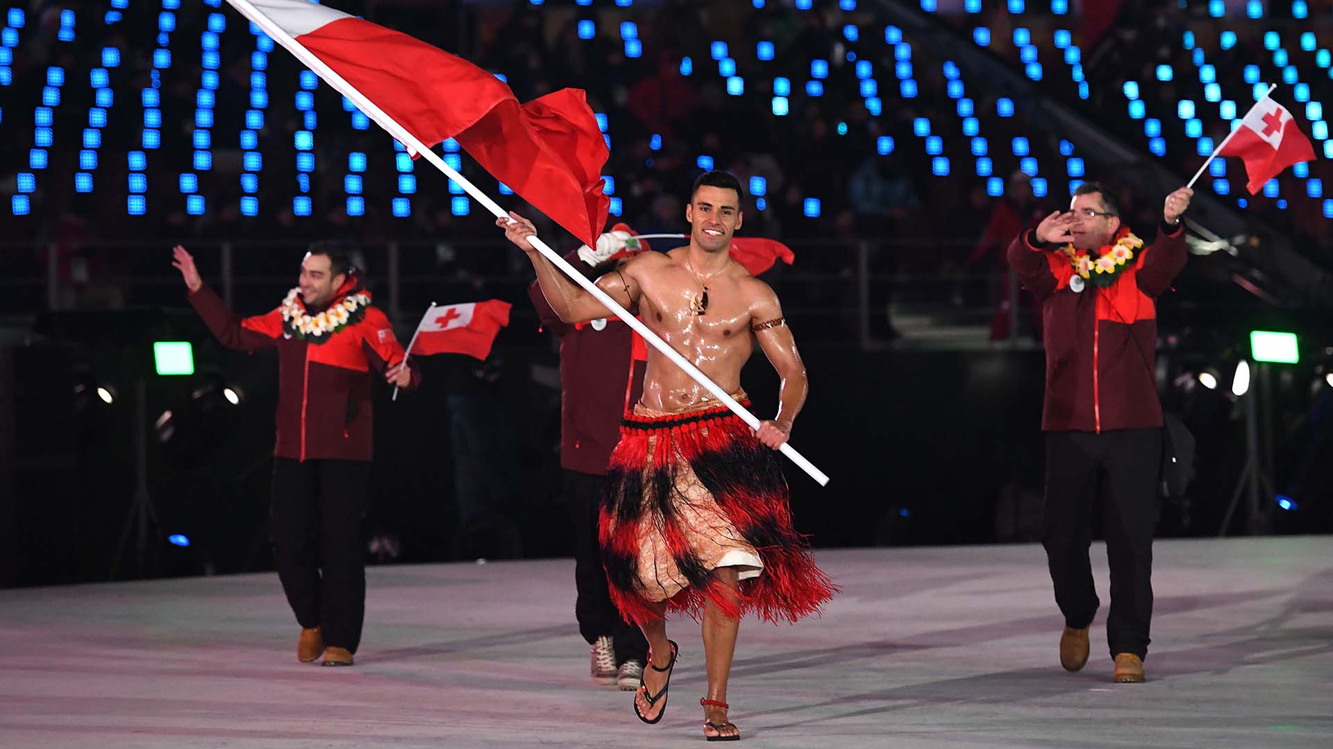 Big Screen Beckons For Tongas Toned Olympic Flagbearer