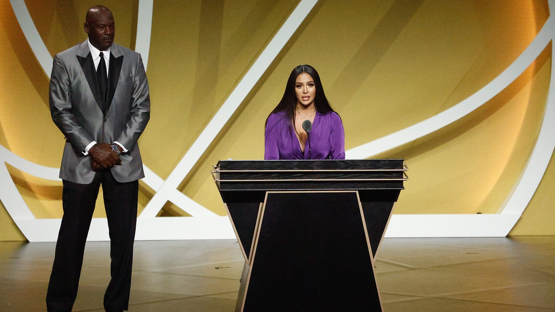 Watch Vanessa Bryant's full Hall of Fame speech honoring Kobe Bryant: 'I love you forever and always'