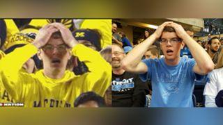 Stunned Michigan fan