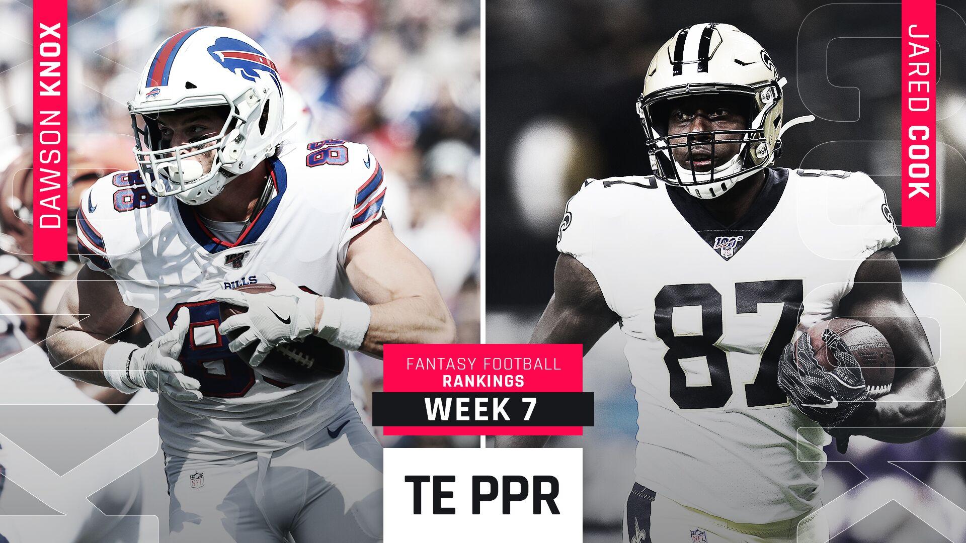 Week 7 Fantasy Ppr Rankings Tight End Sporting News