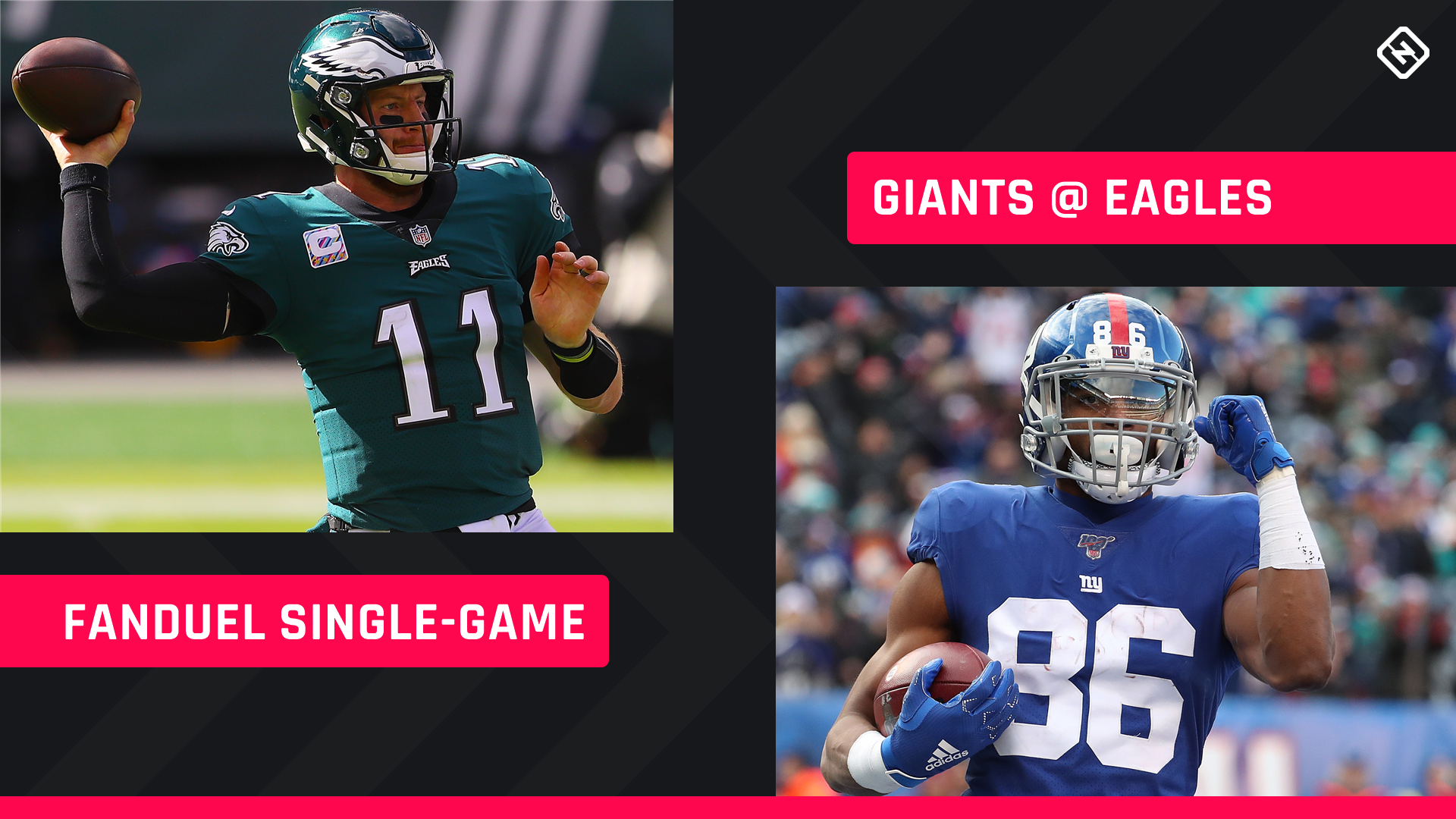 Thursday Night Football FanDuel Picks: NFL DFS lineup advice for Week 7 Eagles-Giants single-game tournaments