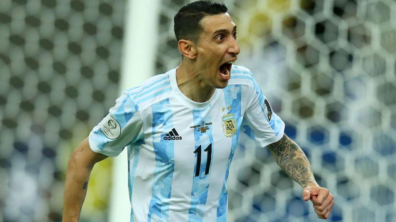 Angel Di Maria celebration - Argentina - Copa America