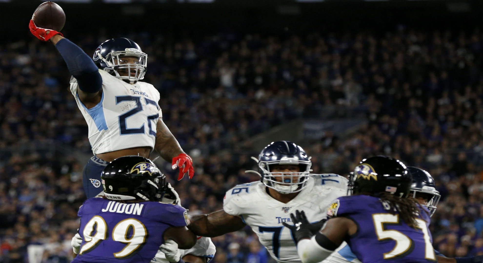 ravens vs titans final score derrick henry tennessee stun top seeded baltimore sporting news ravens vs titans final score derrick