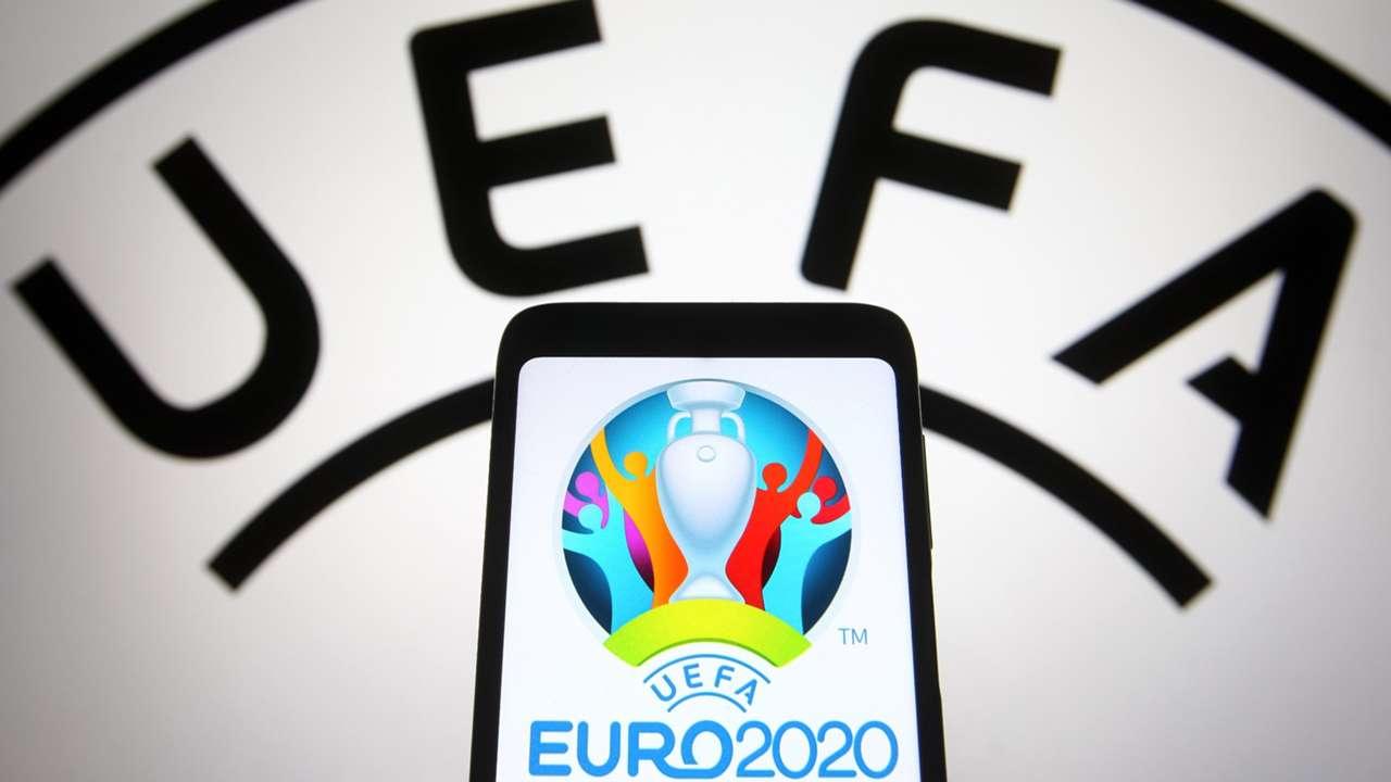 UEFA logo with Euro 2021 logo