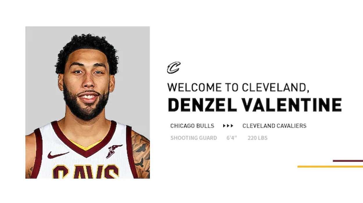 Cleveland Cavaliers Denzel Valentine
