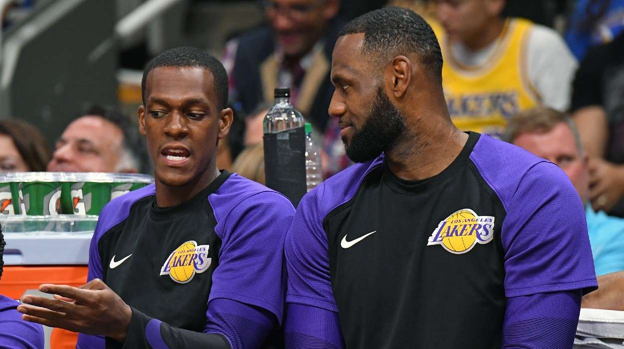 LeBron James Rajon Rondo Los Angeles Lakers