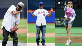 Worst celebrity first pitches