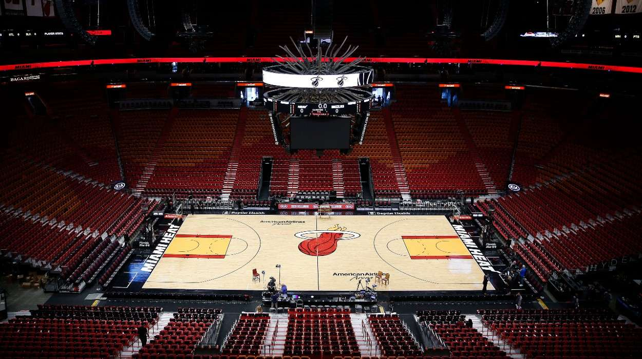 A general view of American Airlines Arena