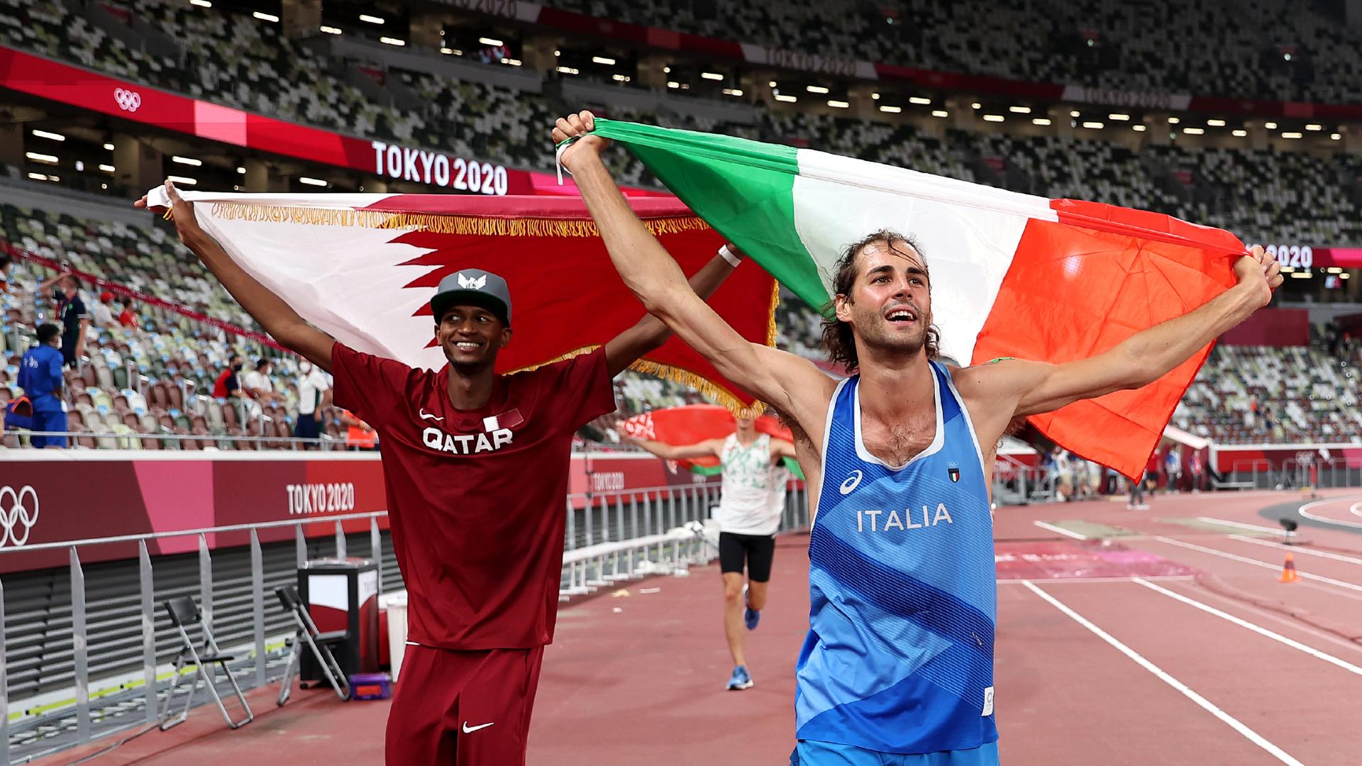 Qatar's Mutaz Esha Barshem, Italy's Gianmarco Tamberi share Olympic gold in men's high jump