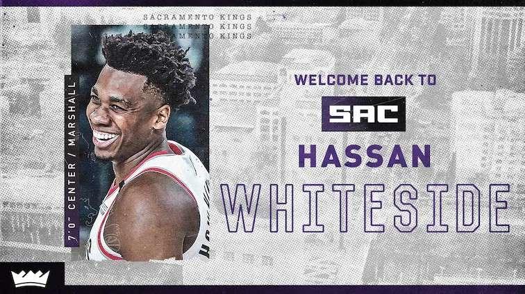 Sacramento Kings Hassan Whiteside