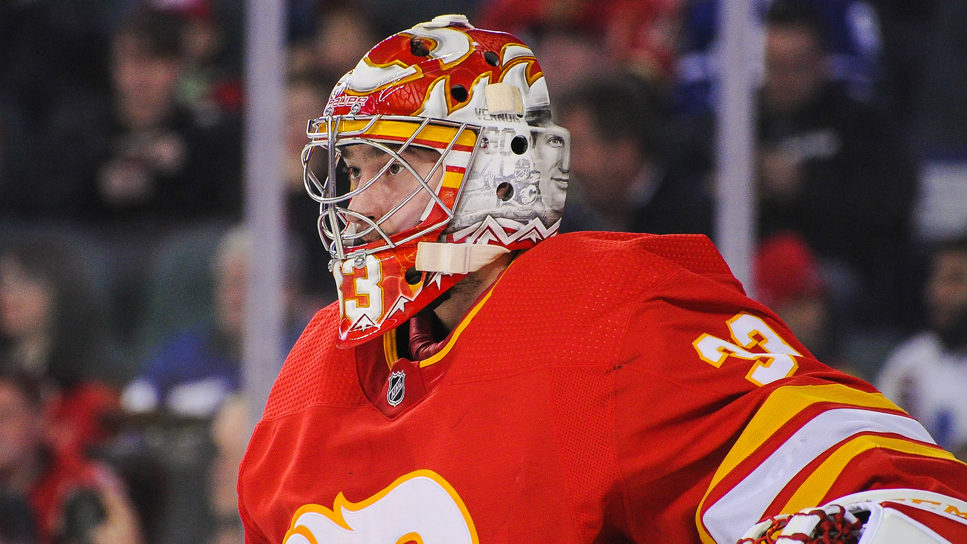 Flames goalie David Rittich using coronavirus quarantine to rehab elbow injury