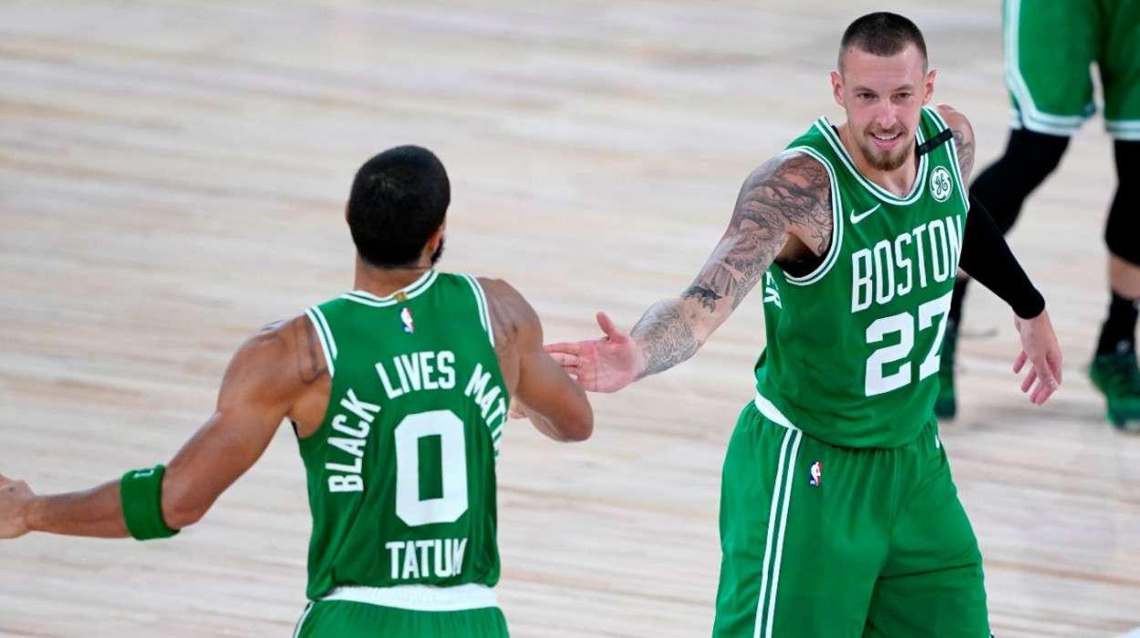 Jayson Tatum Daniel Theis Boston Celtics