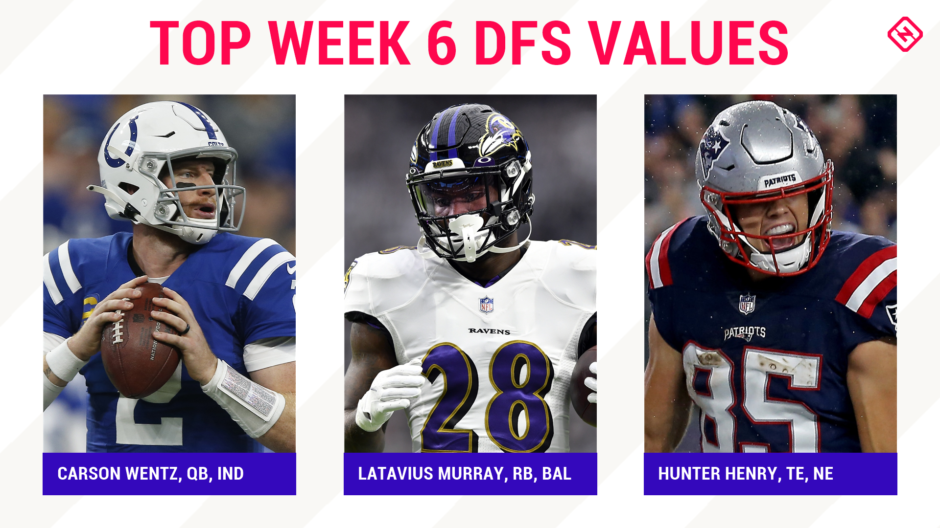 NFL DFS Picks Week 6: Best sleepers, value players for DraftKings, FanDuel daily fantasy football lineups