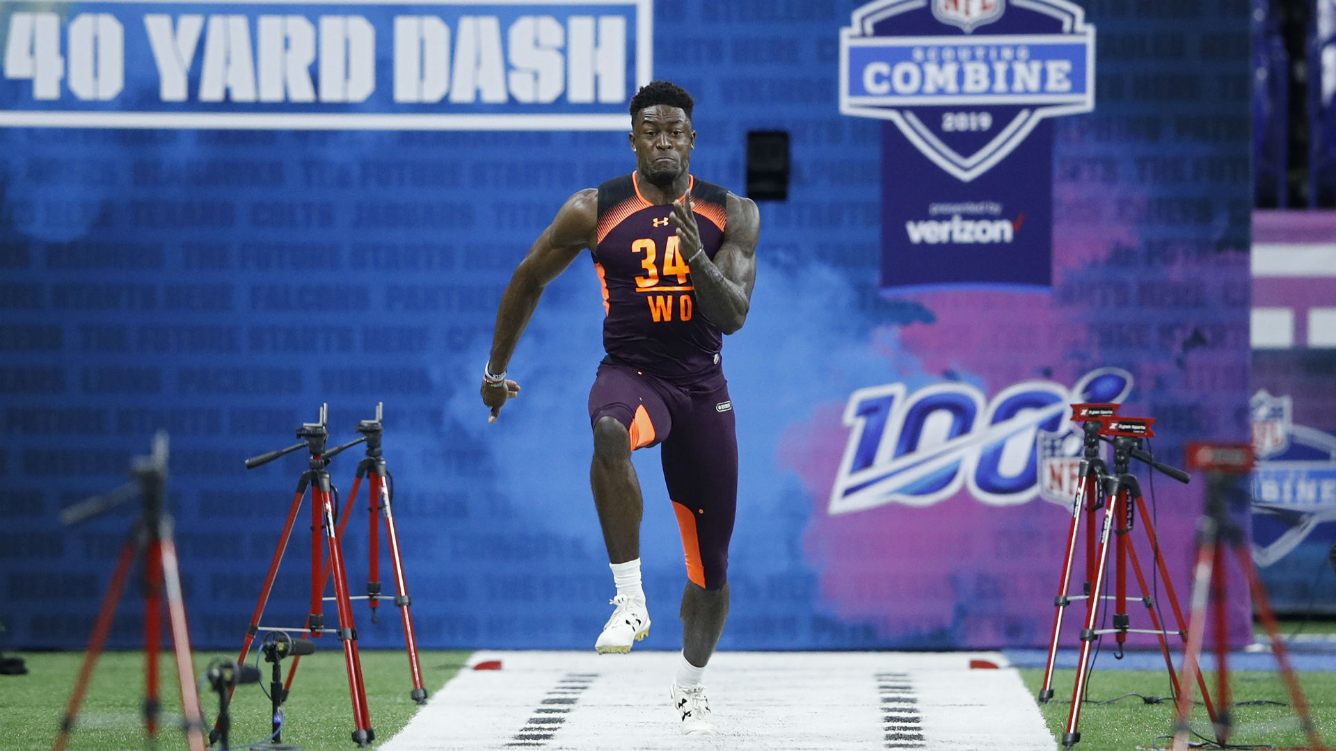 D K Metcalf S Nfl Combine Performance Historic 40 Time Turned Seahawks Wr Into A Star Sporting News