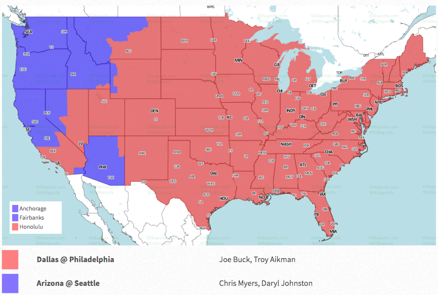 Nfl Week 16 Coverage Map Tv Schedule For Cbs Fox Regional Broadcasts Sporting News