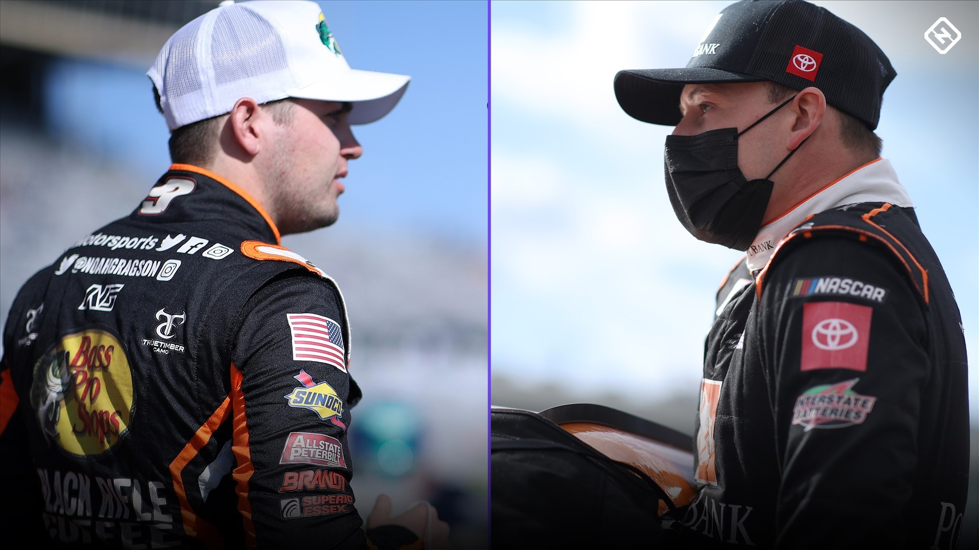 Noah Gragson and Daniel Hemric clash in the pit road after the NASCAR Xfinity race