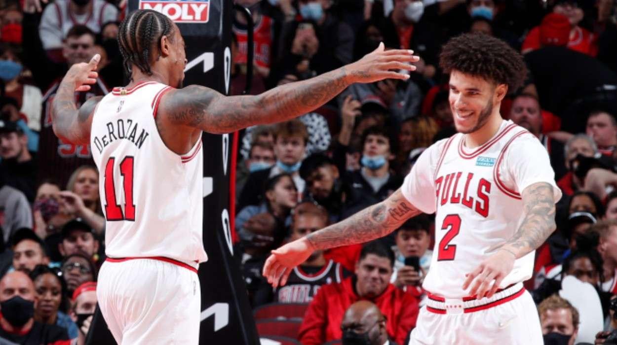 DeMar DeRozan Lonzo Ball Chicago Bulls