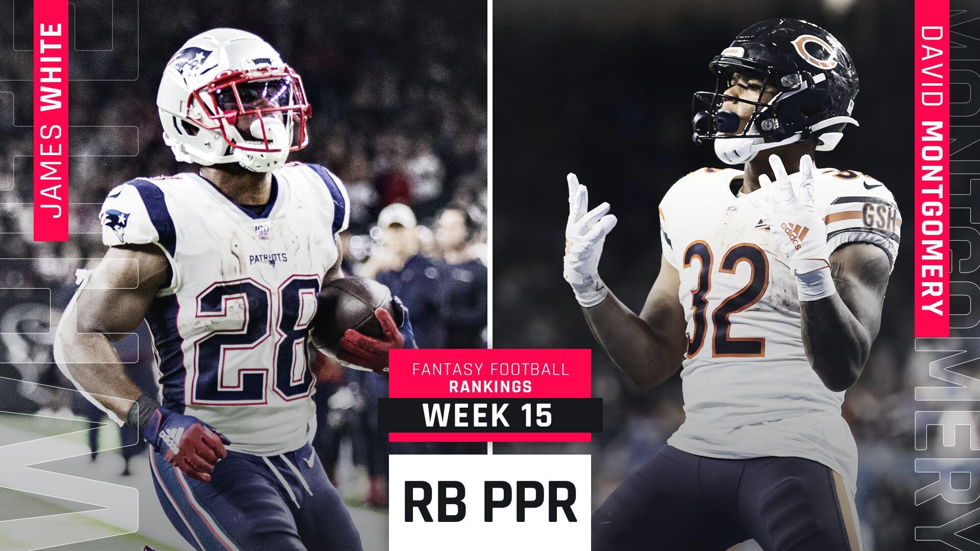Week 15 Fantasy PPR RB Rankings