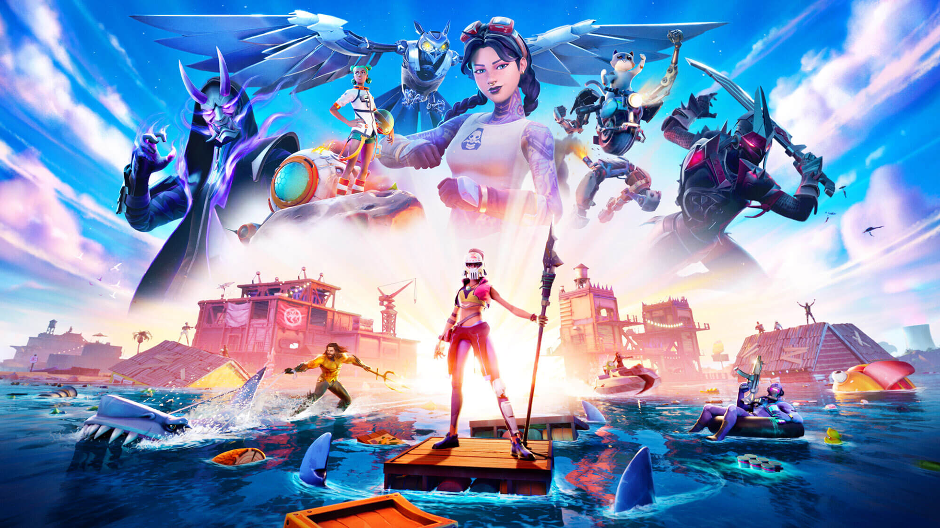 Fortnite Map Battle Pass Mythic Weapons Aquaman Skin More To Know About Chapter 2 Season 3 Sporting News