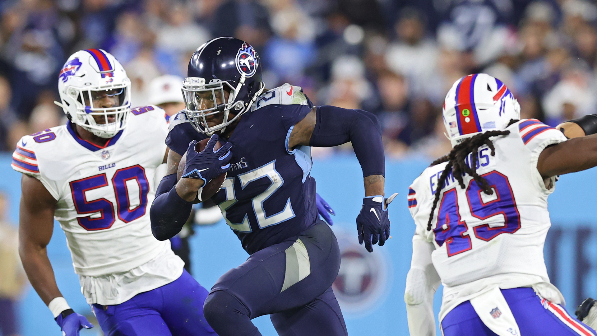 Titans' Derrick Henry became NFL's fastest player of 2021 with 76-yard touchdown vs. Bills