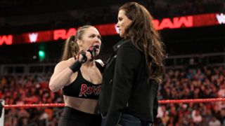 Rousey drops the Raw Women's Title on the canvas and tells Stephanie that it's time for her father to make the right decision.