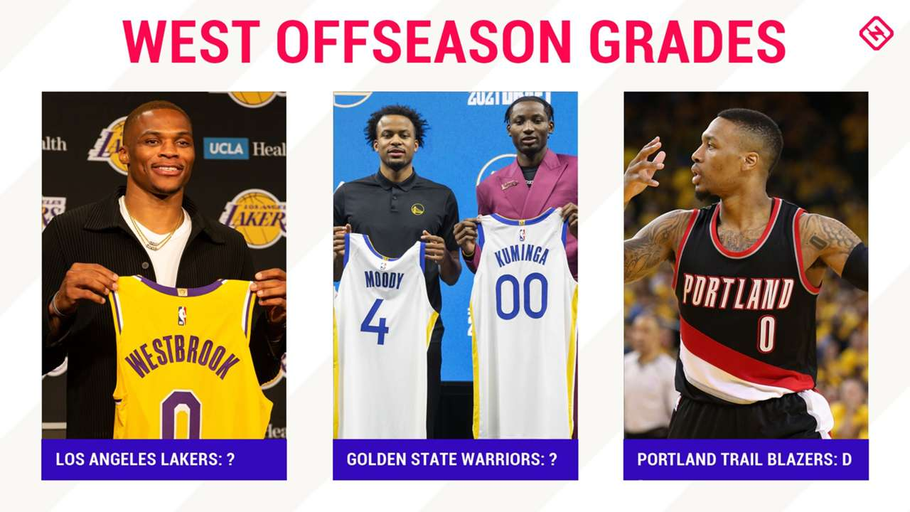 How did the Lakers, Warriors and Blazers grade out this offseason?